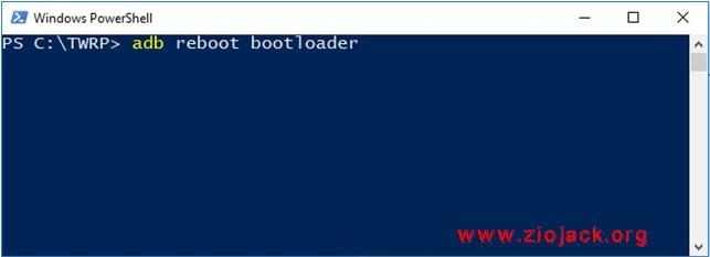 adb reboot boot loader