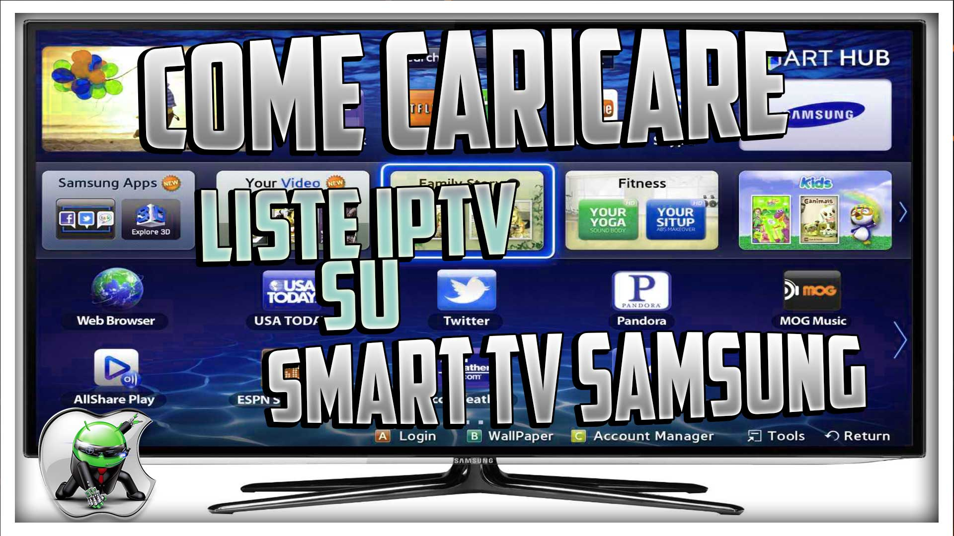 tvtap su smart tv samsung
