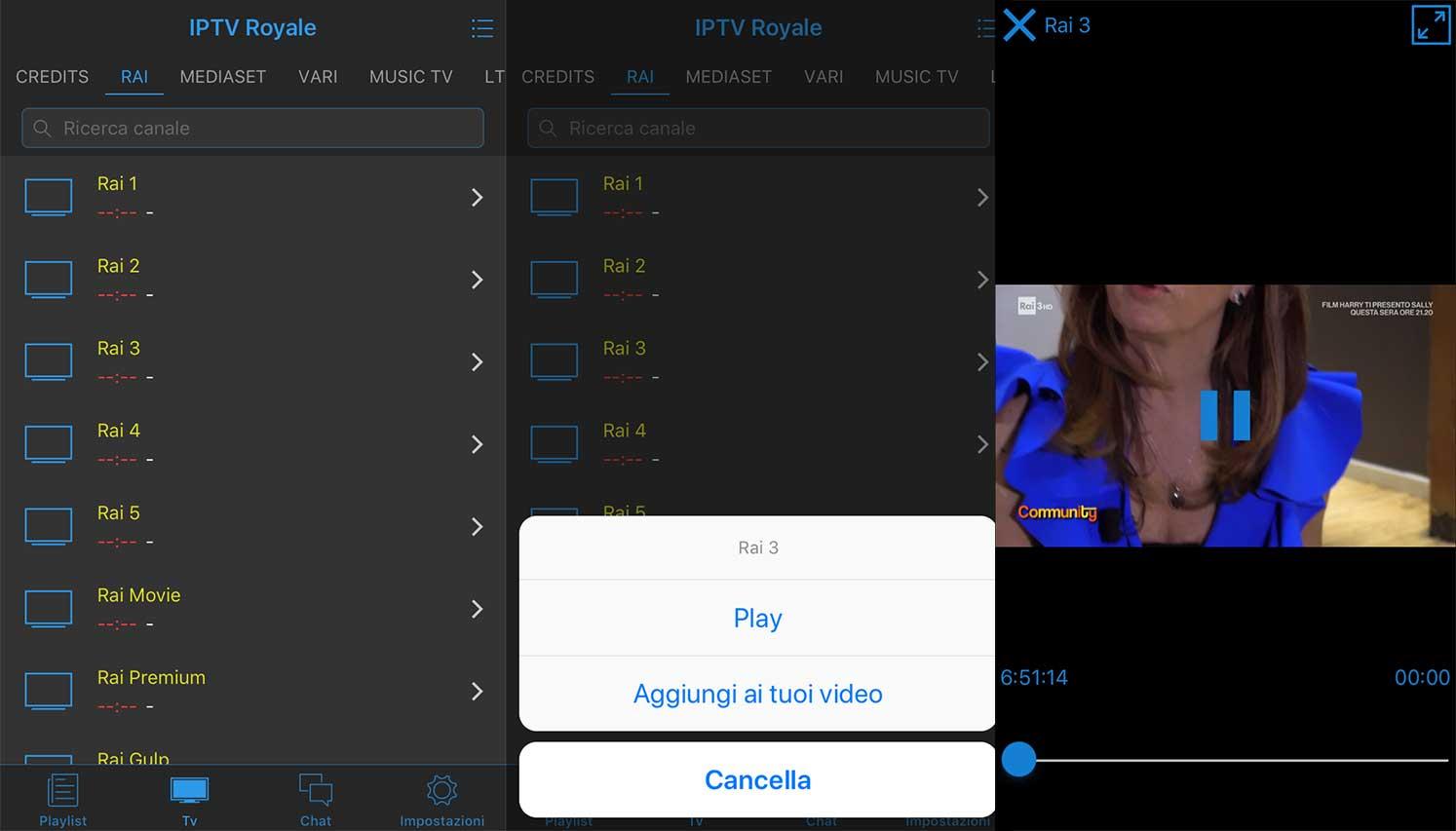 Play list canali iptv